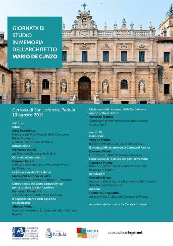 Giornata di studio in memoria dell'architetto Mario De Cunzo